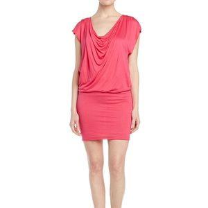 alice + olivia Hot Pink Off / On Shoulder Dress
